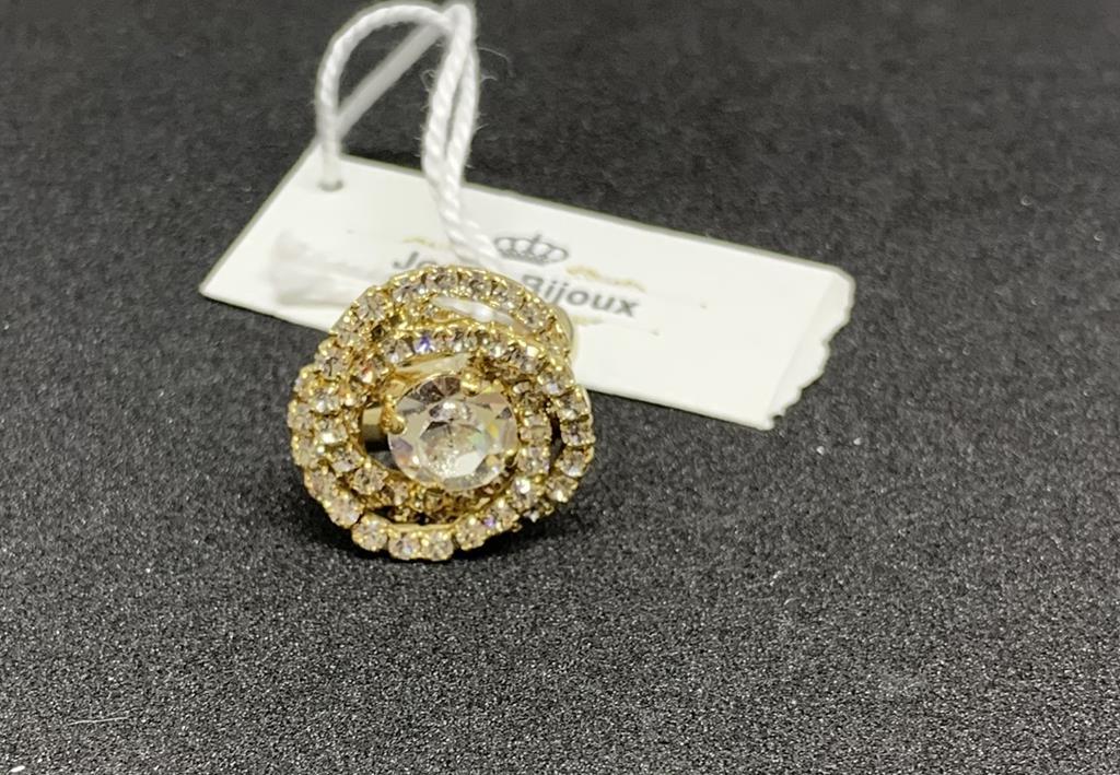 Anello in acciaio con pietre Joelle bijoux