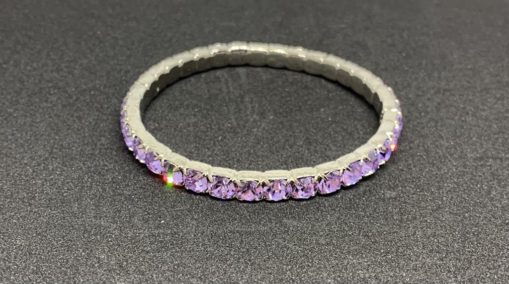 Bracciale in acciaio con pietre colorate - Joelle bijoux