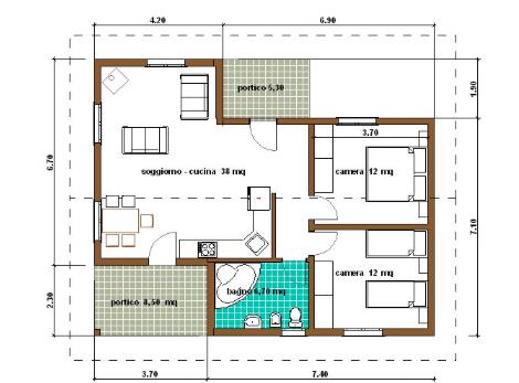 Appartamento 40 mq classe 30 kWh/m² anno
